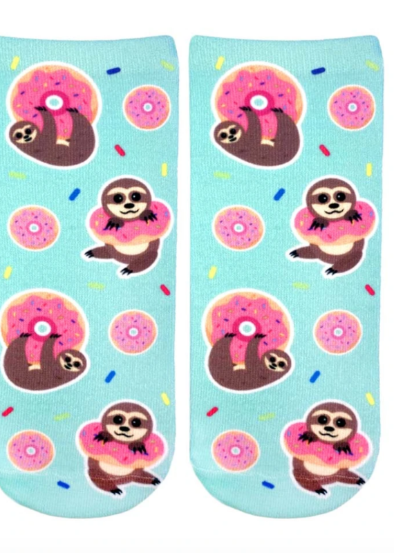 Living Royal Sloth Donut Ankle Socks