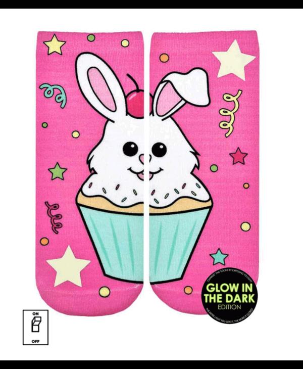 Cupcake Bunny Glow Ankle Socks