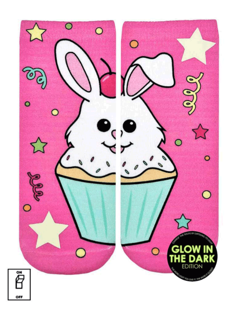 Living Royal Cupcake Bunny Glow Ankle Socks