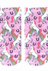 Living Royal Rainbow Llamas Glow Ankle Socks