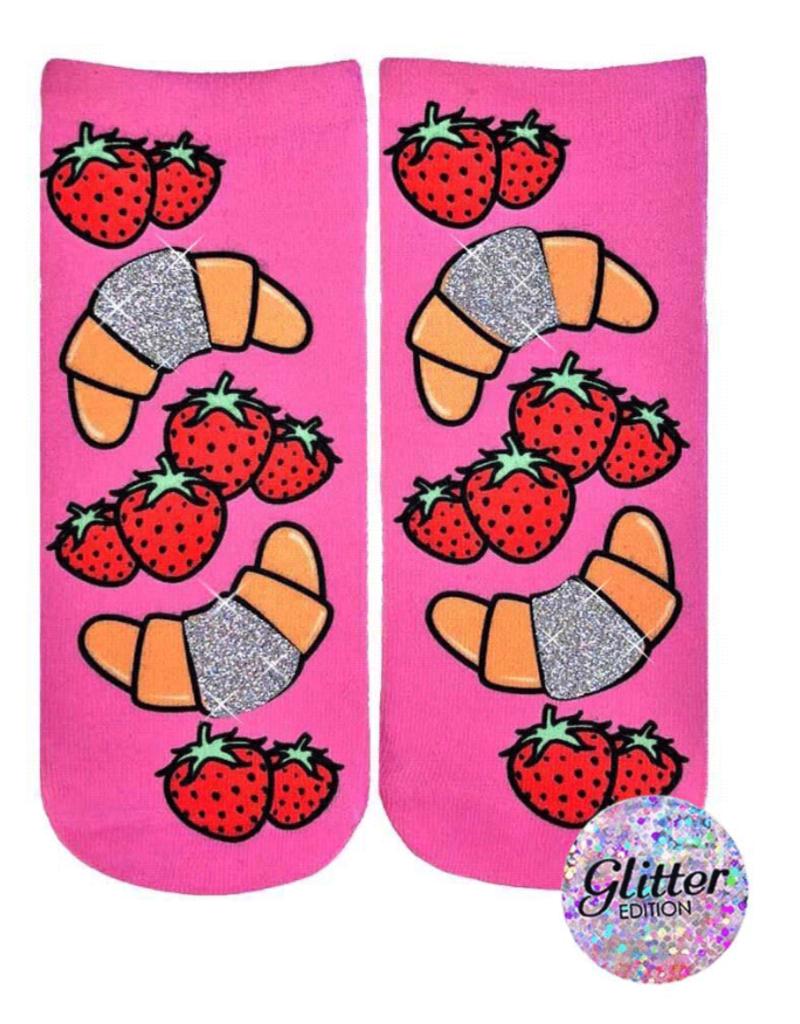 Living Royal Croissant Glitter Ankle Socks