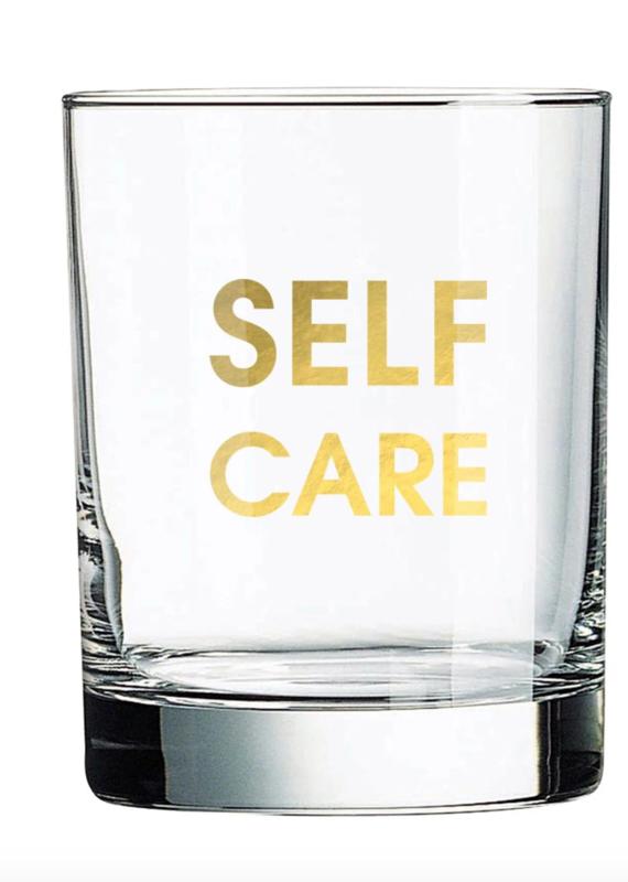Chez Gagne Self Care Rocks Glass