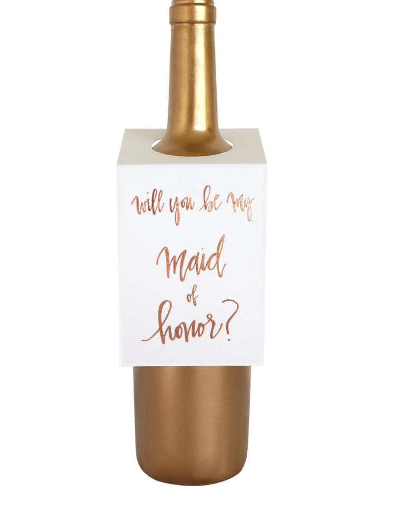 Chez Gagne Wine Tag Maid Of Honor