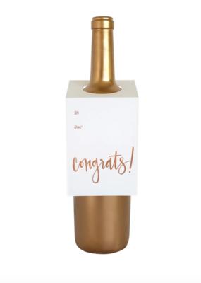 Chez Gagne Wine Tag Congrats
