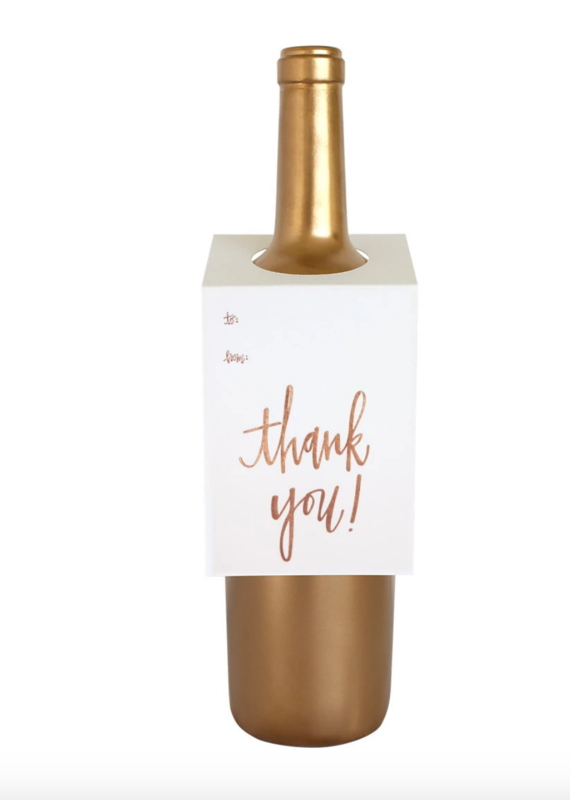 Chez Gagne Wine Tag Thank You