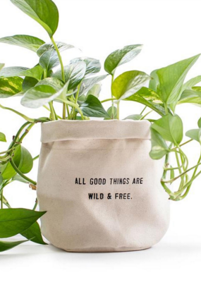 Sugarboo & Co. All Good Things Are Wild Canvas Planter