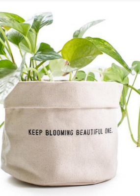 Sugarboo & Co. Keep Blooming Beautiful Canvas Planter