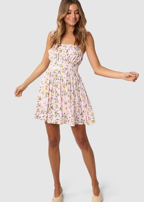Lost in Lunar Sofia Dress Lemon Print