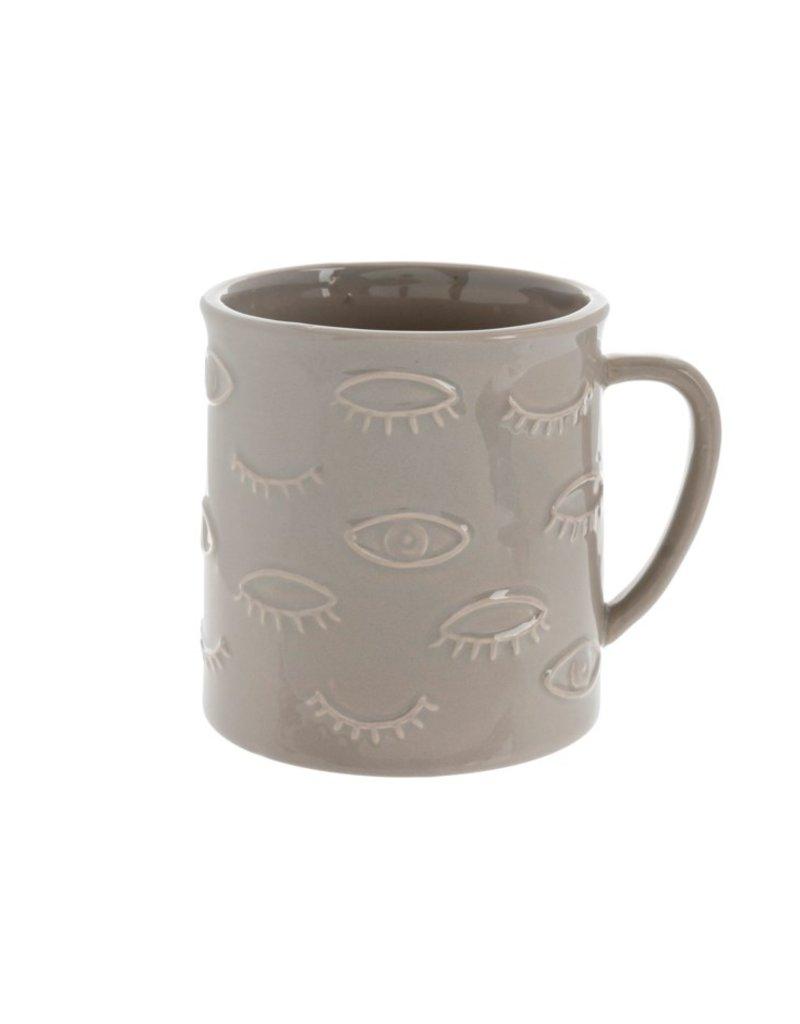 Indaba Trading Co. Eyes Mug Grey