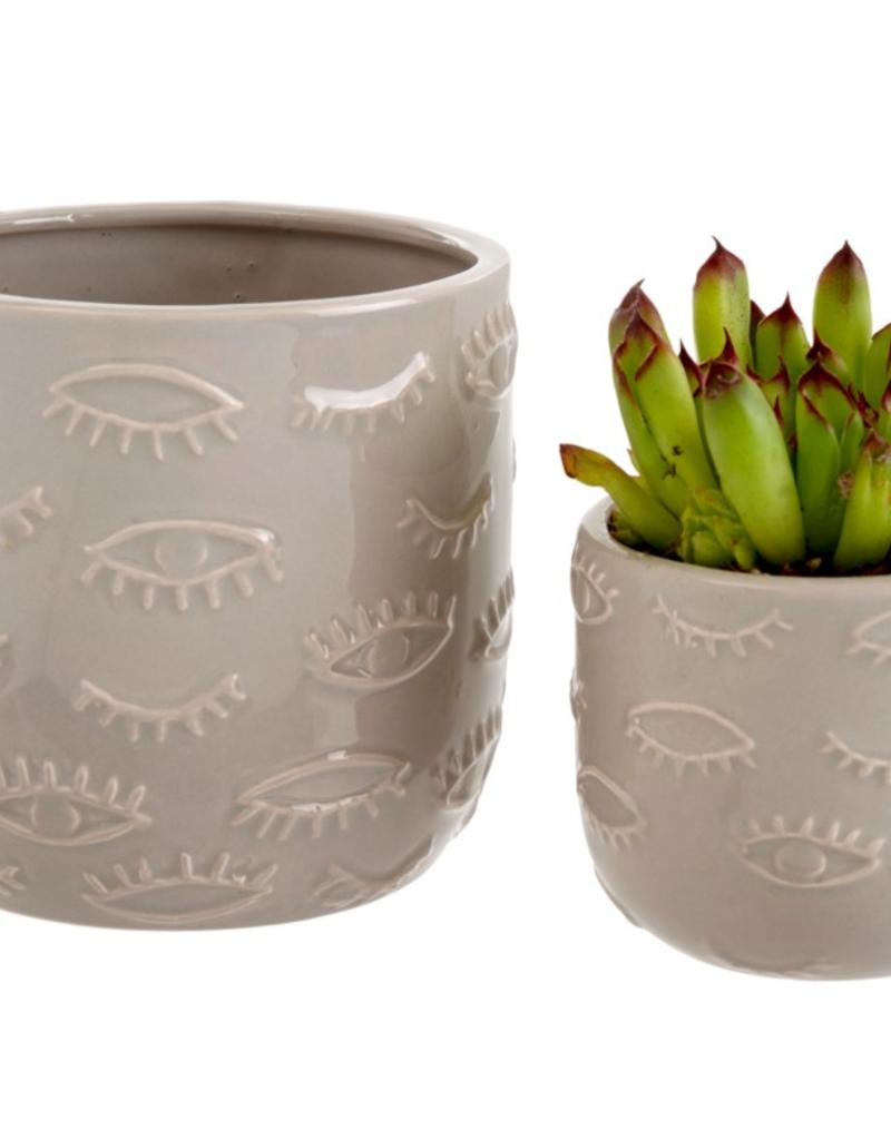 Indaba Trading Co. Eyes Pot Grey Large