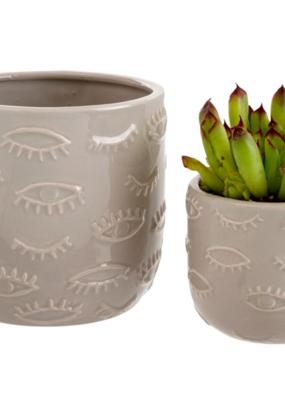 Indaba Trading Co. Eyes Pot Grey Small