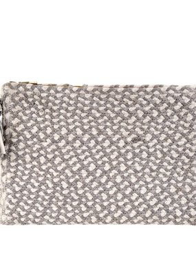Indaba Trading Co. City Chindi Clutch, Grey