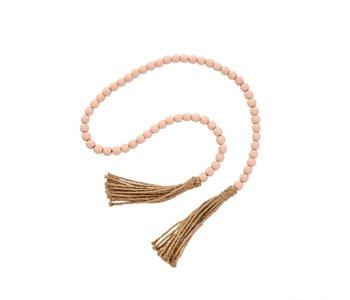 Tassel Prayer Beads, Pink