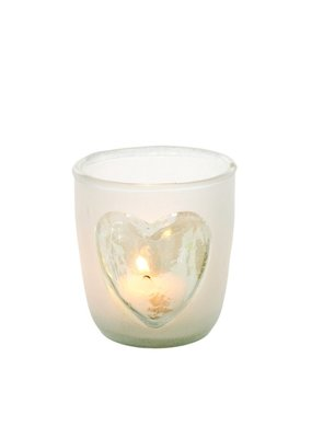 Indaba Trading Co. Frosted Heart Votive, Sm