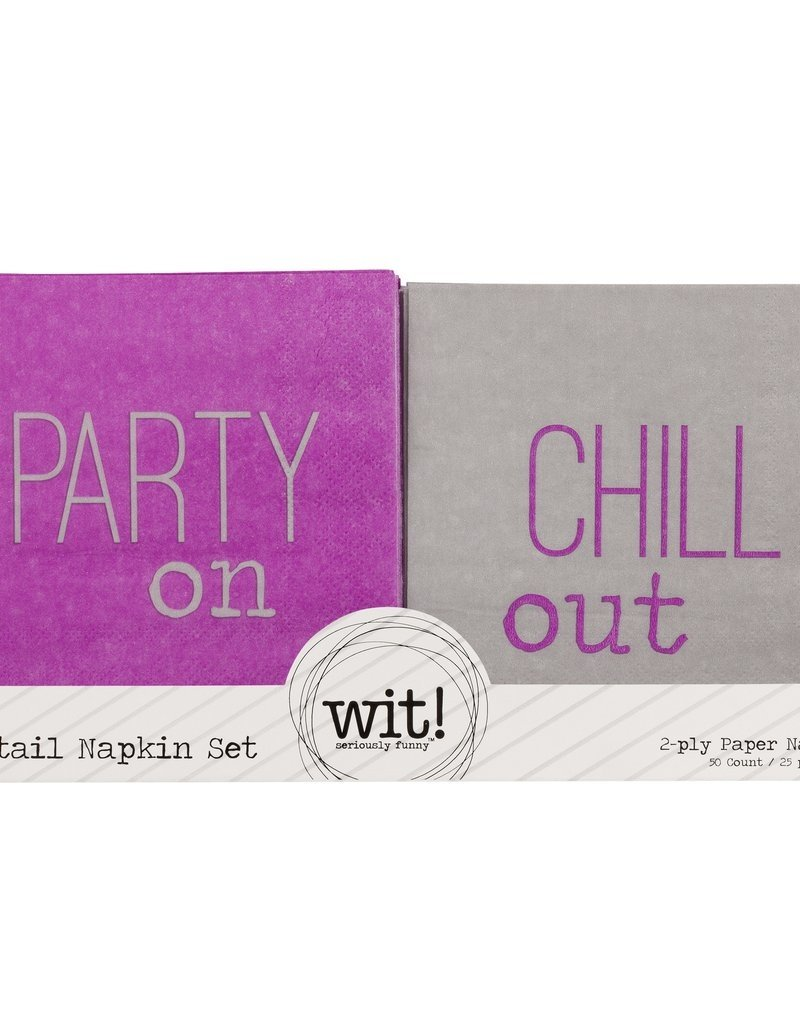 WIT Party/Chill Cocktail Napkins