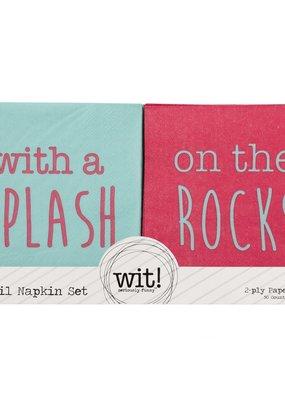 WIT Splash/Rocks Cocktail Napkins