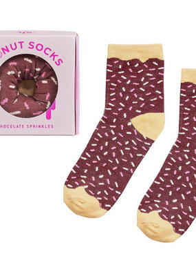 Wild & Wolf Donut Socks, Chocolate Sprinkles