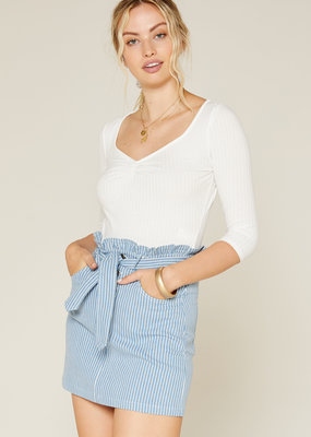 Sadie & Sage No Doubts Denim Skirt