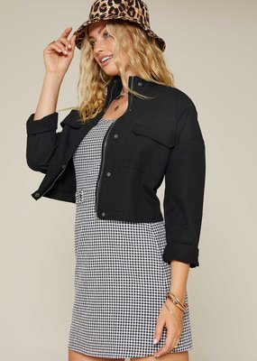 Sadie & Sage Black Twill Jacket