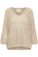 Part Two Petrona Knit Oatmeal Sweater