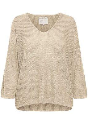 Part Two Petrona Knit Oatmeal Sweater
