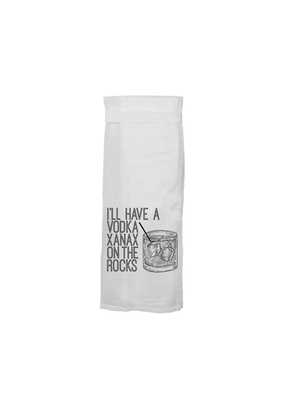 Twisted Wares Vodka Xanax Tea Towel
