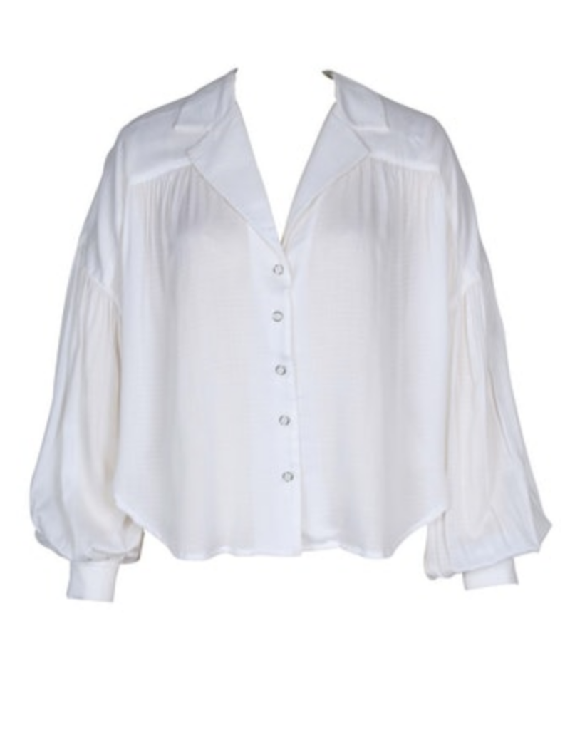 Mink Pink Dropped Puff Sleeve Shirt
