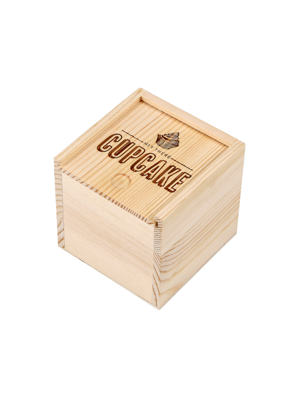 C.R Gibson Hey Cupcake Wood Box