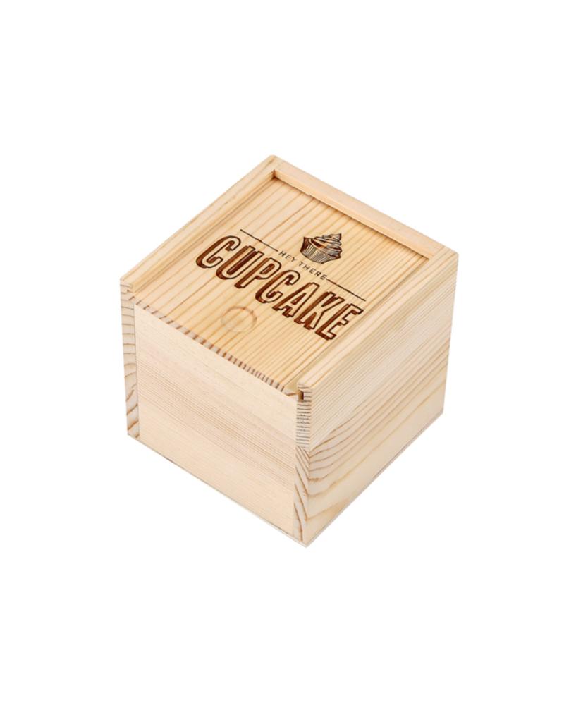 C.R Gibson Hey Cupcake Wood Box