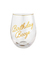 C.R Gibson Birthday Booze Wine Glass