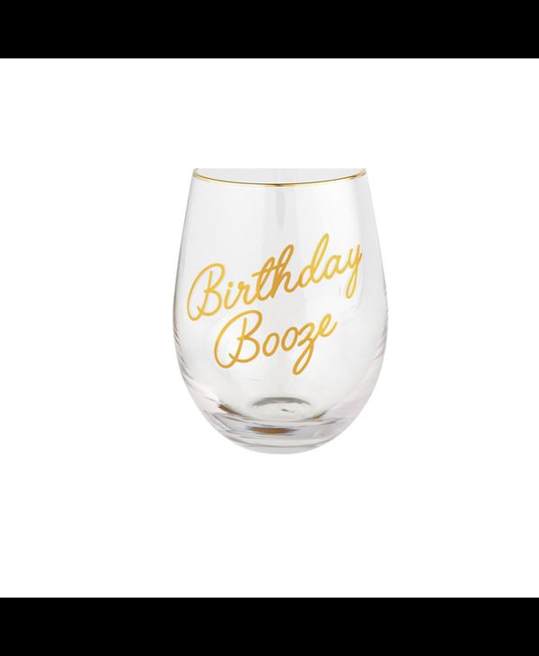 Birthday Booze Wine Glass