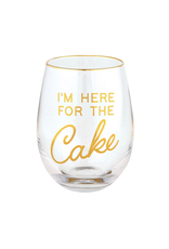 C.R Gibson Here For The Cake Wine Glass