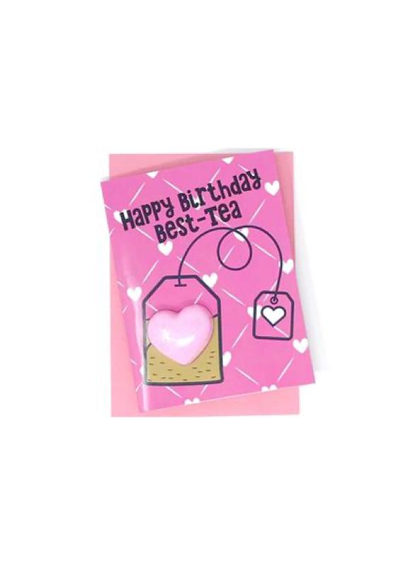 Feeling Smitten Happy Birthday Best Tea Bath Card