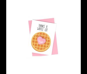 Thanks a Waffle Lot Bath Card