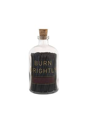 Skeem Design Apothecary Match Bottle Burn Brightly