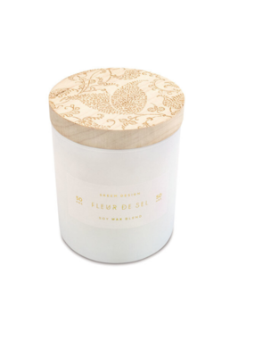 Skeem Design Fleur De Sel Small Wood Block Candle