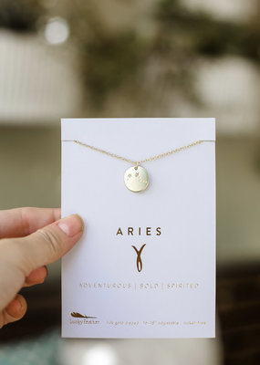 Lucky Feather Aries Necklace