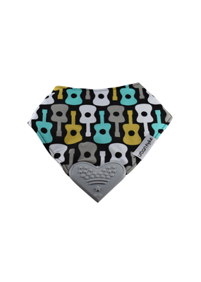 Urban Tyke Teether Bib, Guitar Print