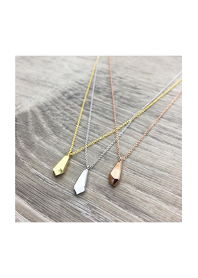 FAB Accessories Brushed Faceted Pendant