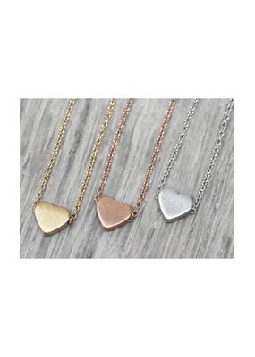 jj + rr Simple Heart Necklace