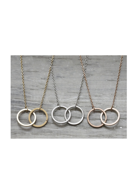 FAB Accessories Double Circle Eternity Necklace
