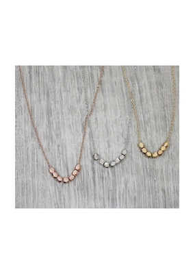 jj + rr Multi Faceted Bead Necklace