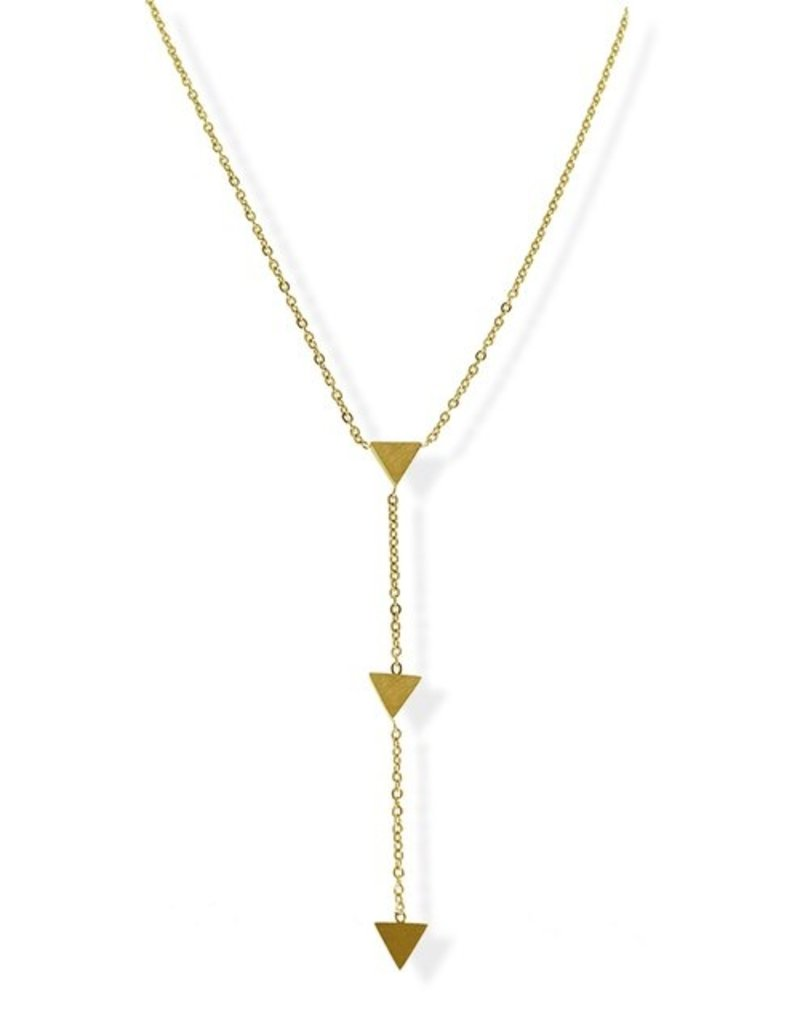 FAB Accessories Triple Triangle Y Necklace