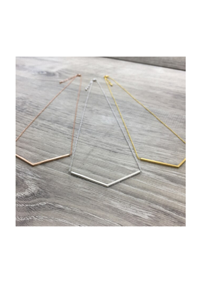 FAB Accessories Brushed V Necklace
