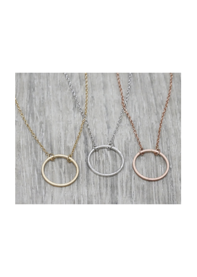 FAB Accessories Open Circle Necklace