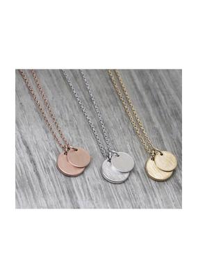 jj + rr Double Circle Drop Necklace