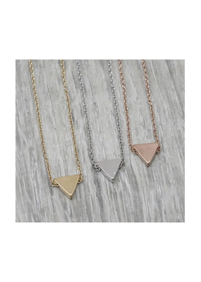 FAB Accessories Petite Triangle Necklace