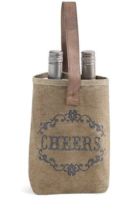 Mona B Cheers Double Wine Bag
