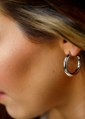 FAB Accessories Small Bold Hoop Earrings