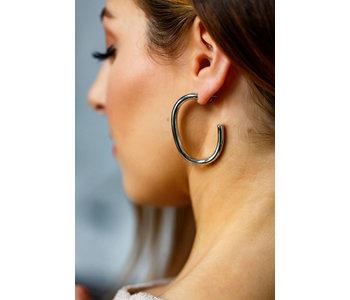 "Luxe Bold ""C"" Hoop Earrings"